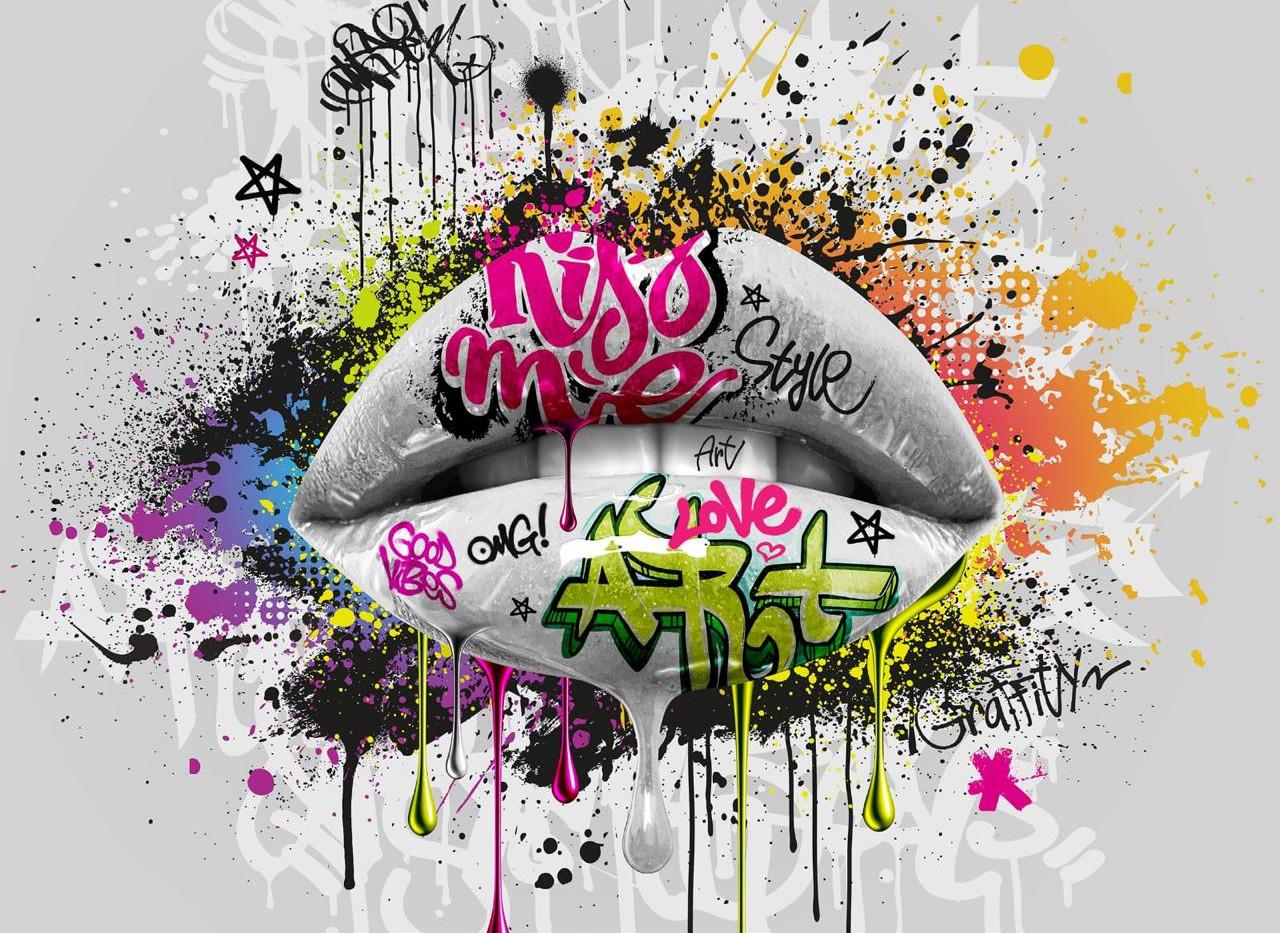 Glossy Lips Street Art White.jpeg