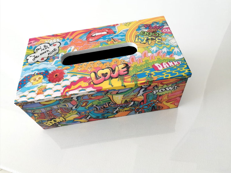LILLY POP -STREET ART TISSU BOX