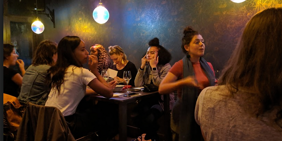 Sip + Snack + Share: a night of community and co-creation hosted by Contours
