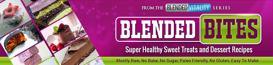Blended Bites, It's your one-stop resource for delicious, healthy, guilt-free snacks that you can eat every day and STILL eat healthy.  And even better, EVERY ONE of these recipes are NO COOK! That right. These are RAW healthy snack foods that taste as good as their fattening counterparts. I've cut all of the fat out of my e-book too. So it's just 47 pages of easy-to-follow recipes for amazingly delicious snacks.