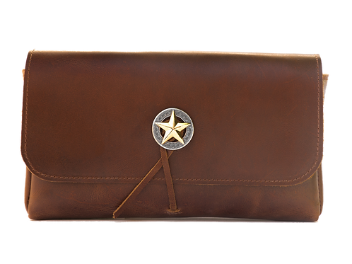 Vintage Brown Leather with Concho