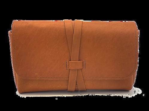Wrap Closure, Russet leather, 5 bottle case