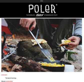 Header Design and Image for Poler Stuff