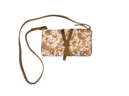 Hair and Hide Crossbody with Wrap Closure