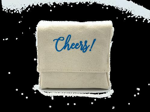 """Cheers!"" Mini 3 bottle case"