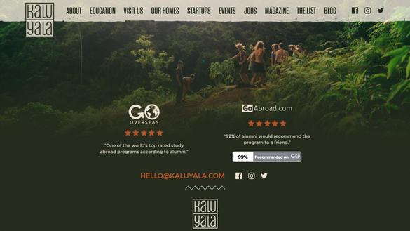 Kalu Yala Website Footer