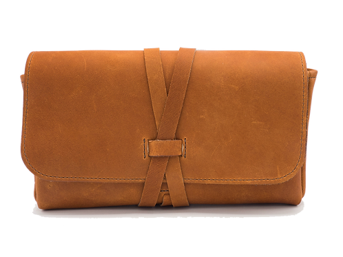 Russet Leather with Wrap Closure