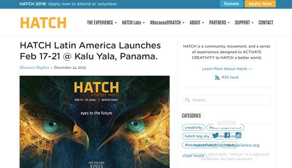Kalu Yala Hatch Article