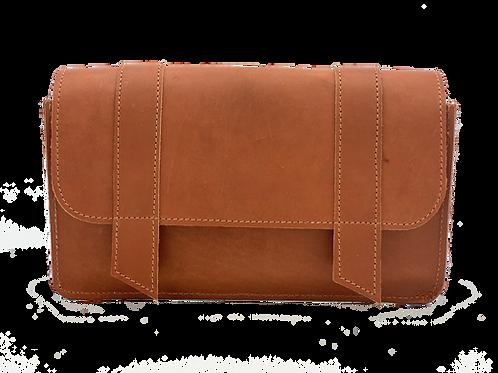 Saddlebag, Russet leather,   5 bottle case
