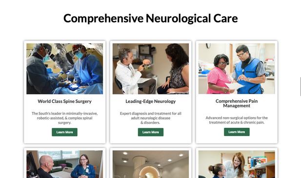 Baton Rouge Neurological Care Copywriting