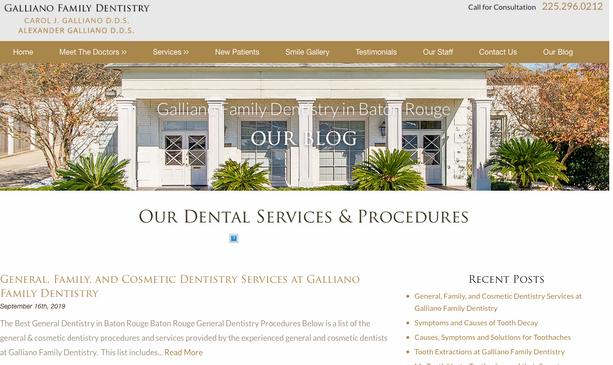 Galliano Dentistry Blogging