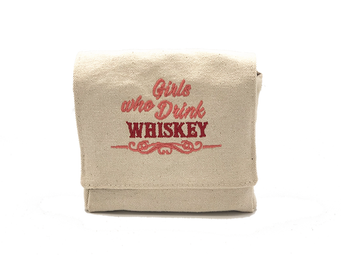 """Girls Who Drink Whiskey"" Mini 3 bottle case"