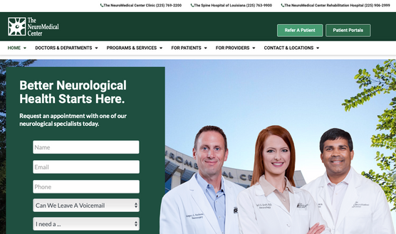 Baton Rouge Neurological Care Doctor Search Design and Writing