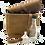 Thumbnail: Old Town Vintage Brown- Mini 3 bottle case