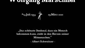 Trauer um Wolfgang Marschner