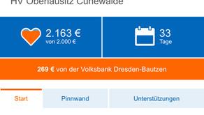Crowdfunding (Spendenaktion) Aktion der Volksbank läuft auf Hochtouren!