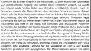 Rückblick 1.Sachsenligajahr: Erste von vielen Derby-Niederlagen gegen Koweg Görlitz!