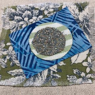 Layered Textile Art For Prayer Flag