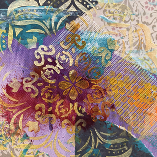 Close Up Of Mixed Media Collage