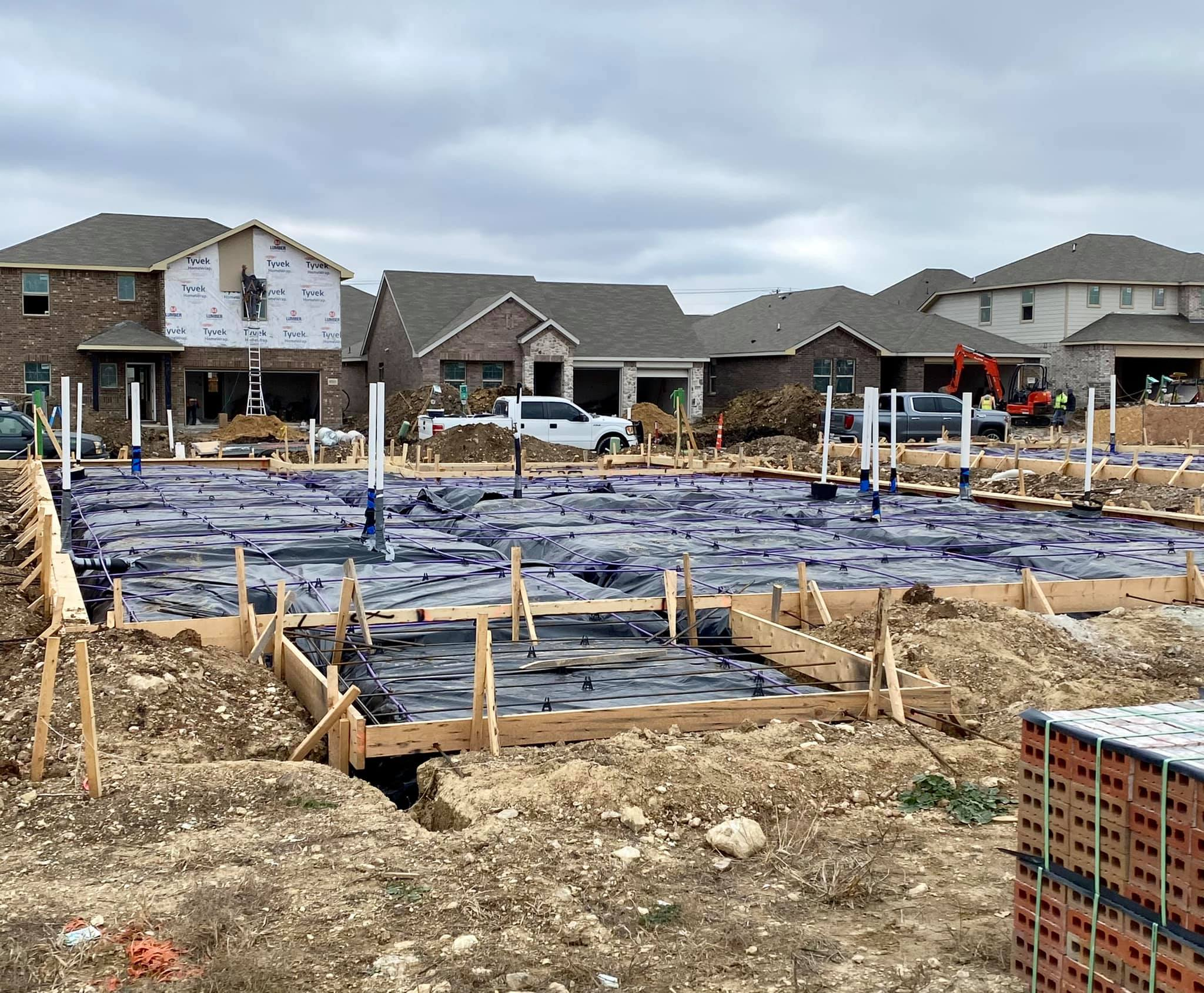 New construction- Phase I- Foundation Pre-pour