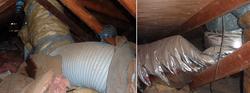 Damaged HVAC Duct Work