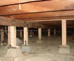 Pier and Beam Foundation Crawlspace