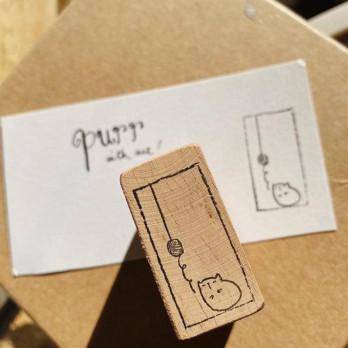 Catdoo rubber stamp -  yarn n meow