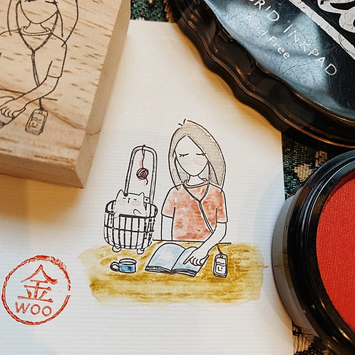 Catdoo rubber stamp - Mi&Meow vol.3 - always ther with me