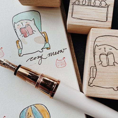 Catdoo Rubber Stamp - Stay Cozy