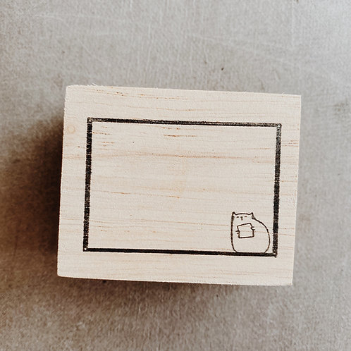 Catdoo rubber stamp- Meowsage box