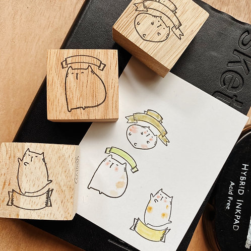 Catdoo rubber stamp - Bubble label 🏷 stamps set
