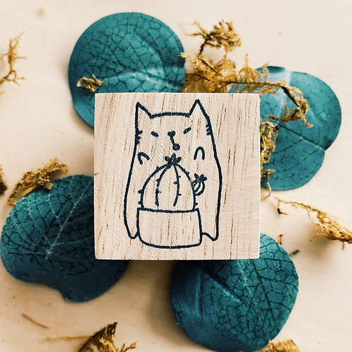 Catdoo rubber stamp - cactus meow