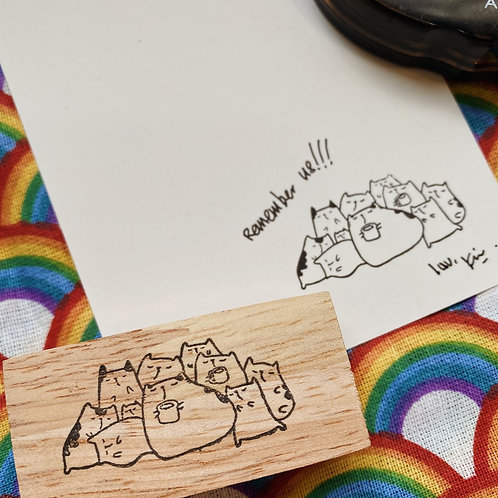Catdoo rubber stamp - Remember cats stamp