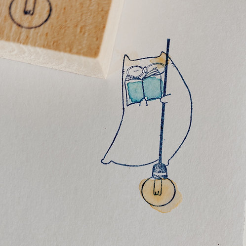 Catdoo rubber stamp - new bookworms