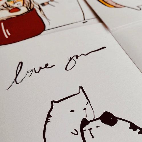 Catdoo Postcard set(4pcs) - Series 1