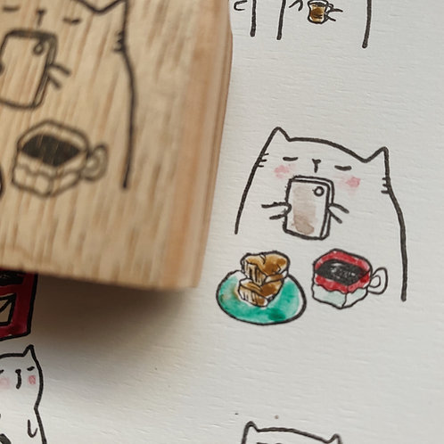 Catdoo rubber stamp - take pictures