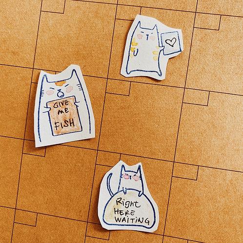 Catdoo Rubber Stamp - Notes versatile set