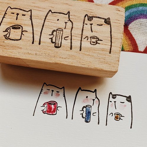 Catdoo rubber stamp - Happy together