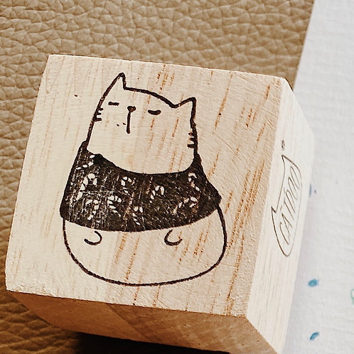 Catdoo rubber stamp - Season's series - in knitting 🧶 top