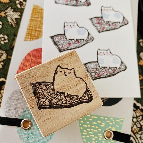 Catdoo rubber stamp - Handmade meowgic carpet
