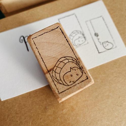 Catdoo rubber stamp  - Happy nap