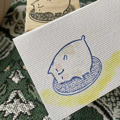 Catdoo rubber stamp - Oval meowgic carpet