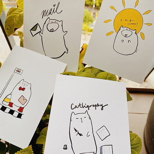 Catdoo Postcard set(4pcs) - Series 4