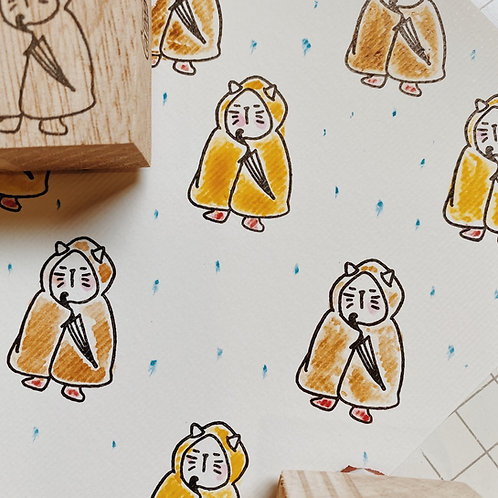 Catdoo rubber stamp - Rain Coats