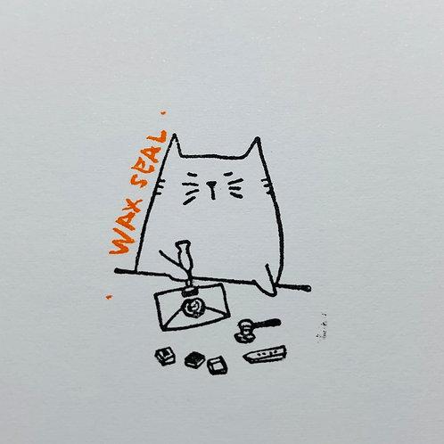 Catdoo Wax Seal meow