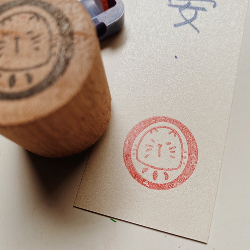 Catdoo Daruma stamp - Meow Daruma 2