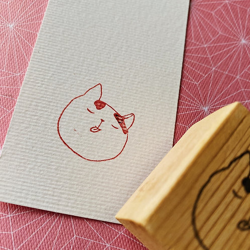 Catdoo rubber stamp - Neko icon - Eating