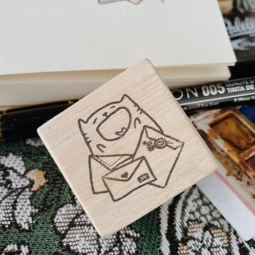 Catdoo rubber stamp - Happy mailing
