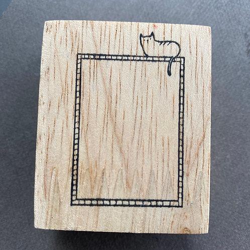 Catdoo rubberstamp - Label stamp