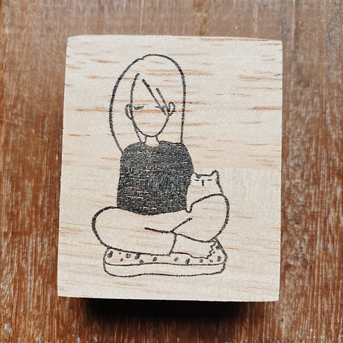 Catdoo rubber stamp - Mi&Meow series vol.2 - Staying calm with meow